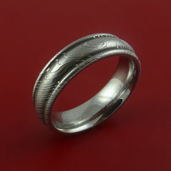 Damascus Steel Ring Wedding Band Genuine Craftsmanship - Stonebrook Jewelry  - 3