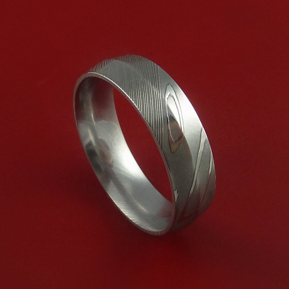 Damascus Steel Ring Wedding Band Genuine by Stonebrook Jewelry