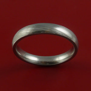 Damascus Steel Ring Custom Made Band
