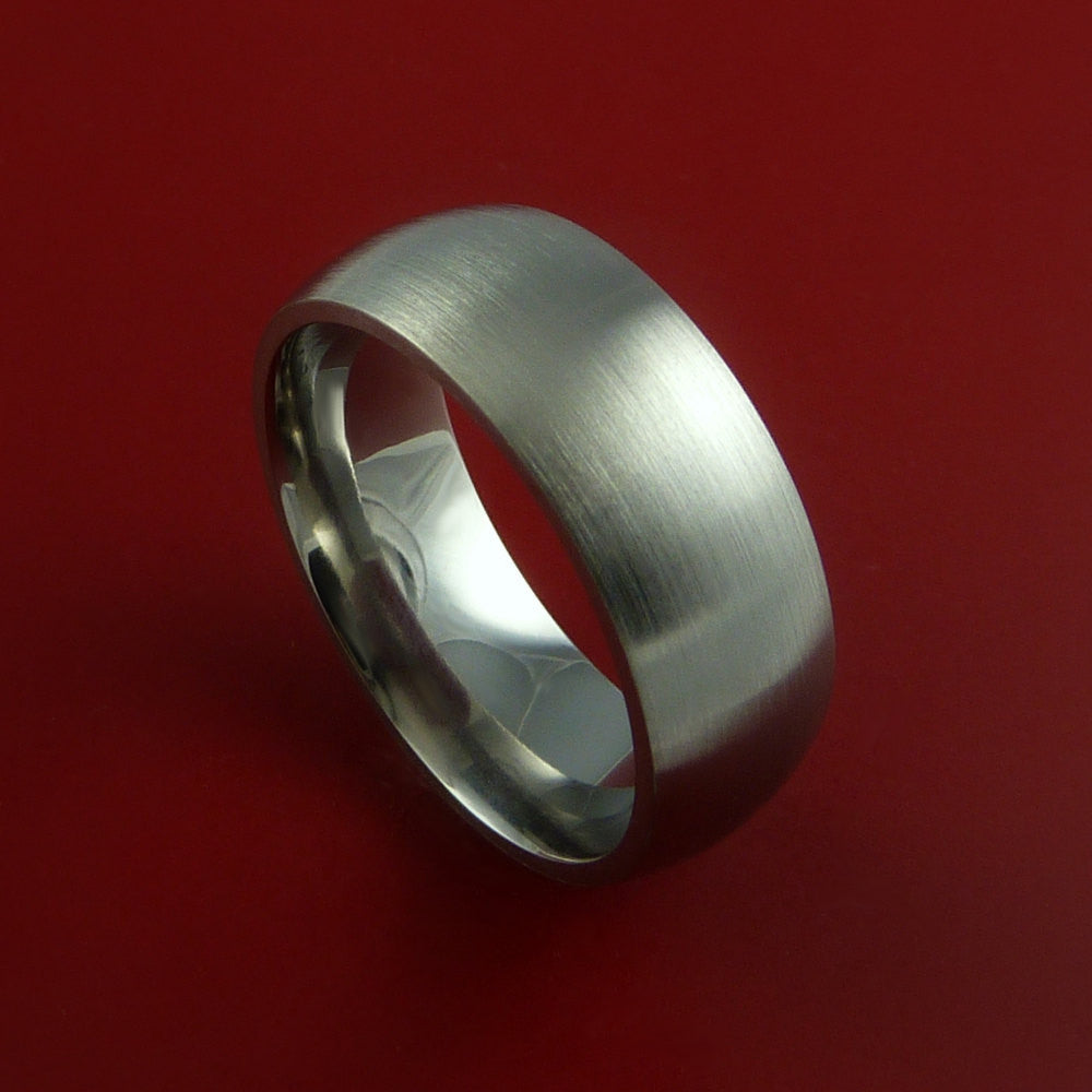 Titanium Wedding Band Engagement Ring Traditional Made to Any Sizing and Finish 3-22 by Stonebrook Jewelry