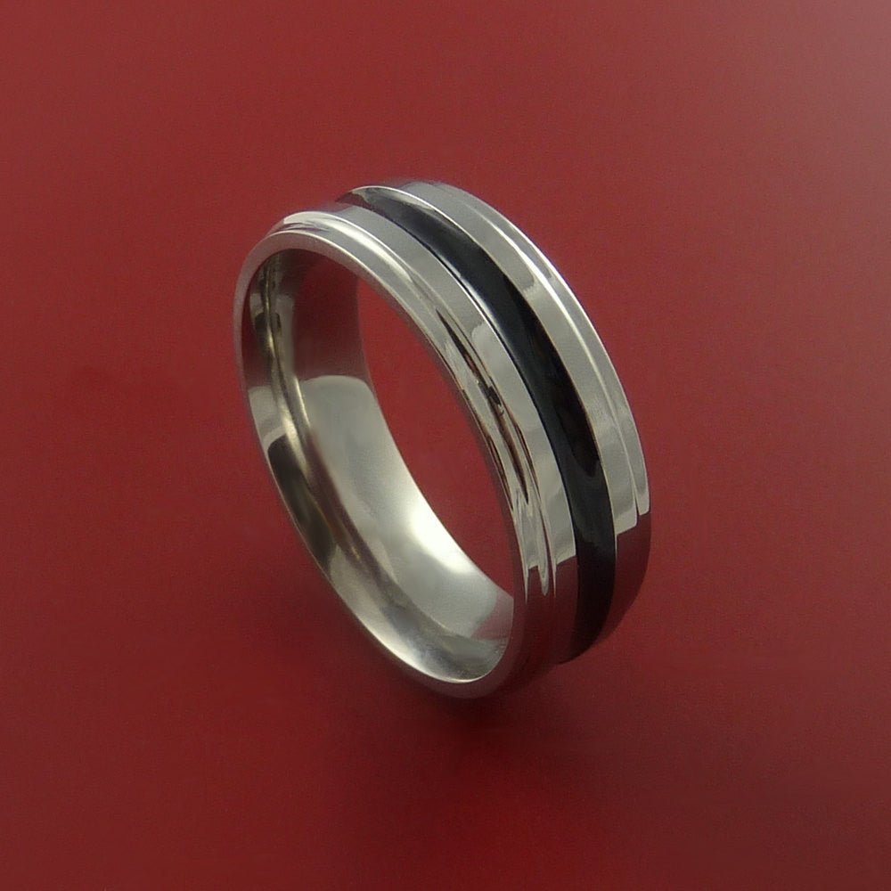 Titanium Band Custom Color Design Ring Any Size 3 to 22 Any Color by Stonebrook Jewelry