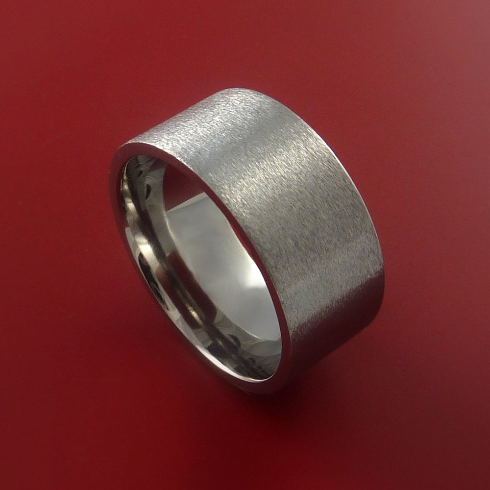 It is just a graphic of Titanium Wide Wedding Band Engagement Ring Made to Any Sizing and