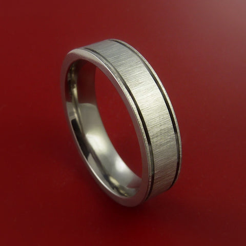 Titanium Ring Modern Wedding Band Made to Any Sizing 3-22 Unique Design