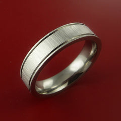 Titanium Ring Modern Wedding Band Made to Any Sizing 3-22 Unique Design by Stonebrook Jewelry