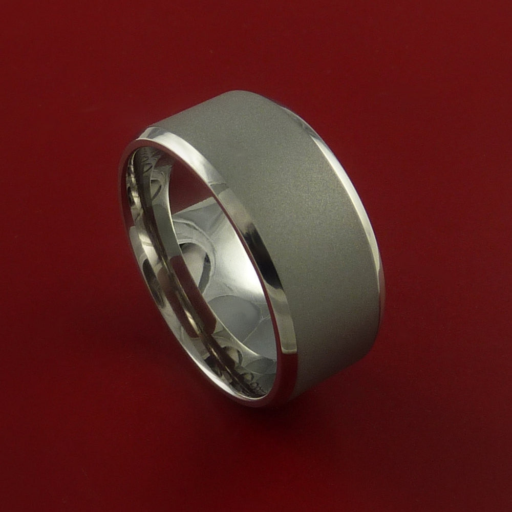 Titanium Wide Band Fine Jewelry Ring Made to Any Sizing and Finish 3-22 by Stonebrook Jewelry