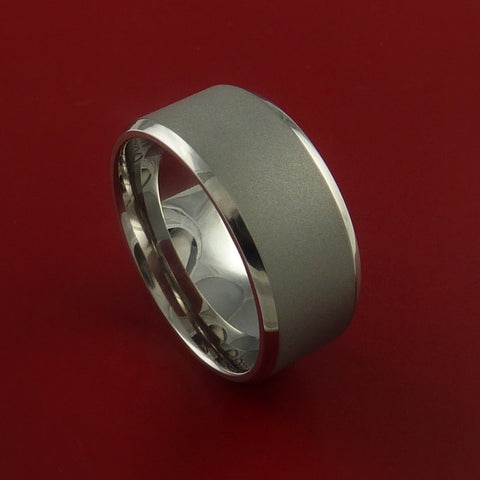 Titanium Wide Band Fine Jewelry Ring Made to Any Sizing and Finish 3-22