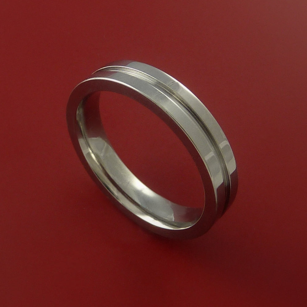 Titanium Ring Fashion Band Style Made to Any Size 3-22 by Stonebrook Jewelry