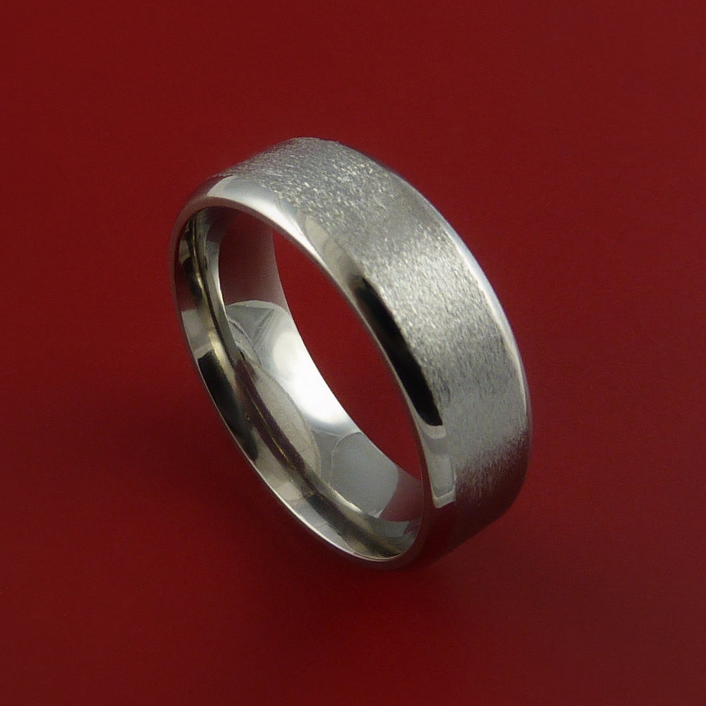 Titanium Wedding Band Engagement Ring CLASSIC Made Any Sizing and Finish 3-22 by Stonebrook Jewelry