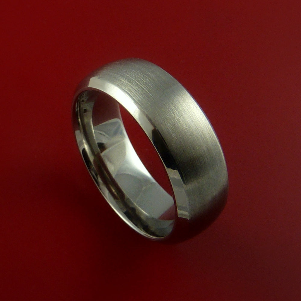 Titanium Wide Wedding Band Classic Engagement Rings Made to Any Sizing 3-22 by Stonebrook Jewelry