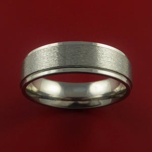 Titanium Wedding Band Engagement Rings Modern Made to Any Sizing and Finish 3-22