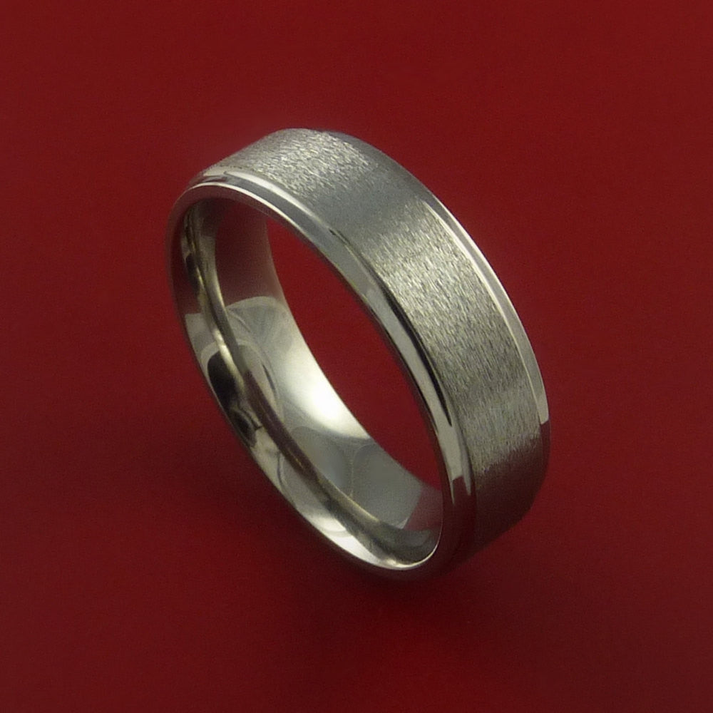 Titanium Wedding Band Engagement Rings Modern Made to Any Sizing and Finish 3-22 - Stonebrook Jewelry  - 1