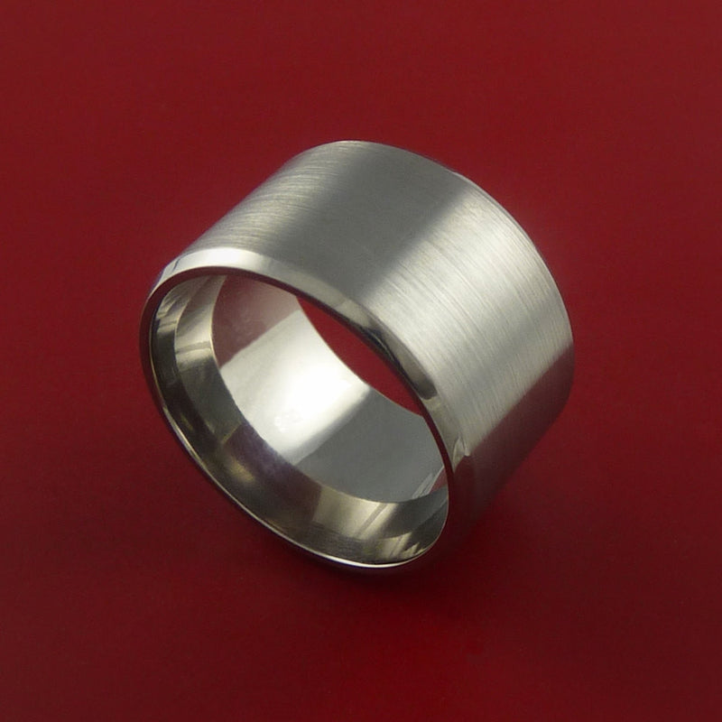 Titanium Wide Wedding Band Engagement Rings Made to Any Sizing 3-22
