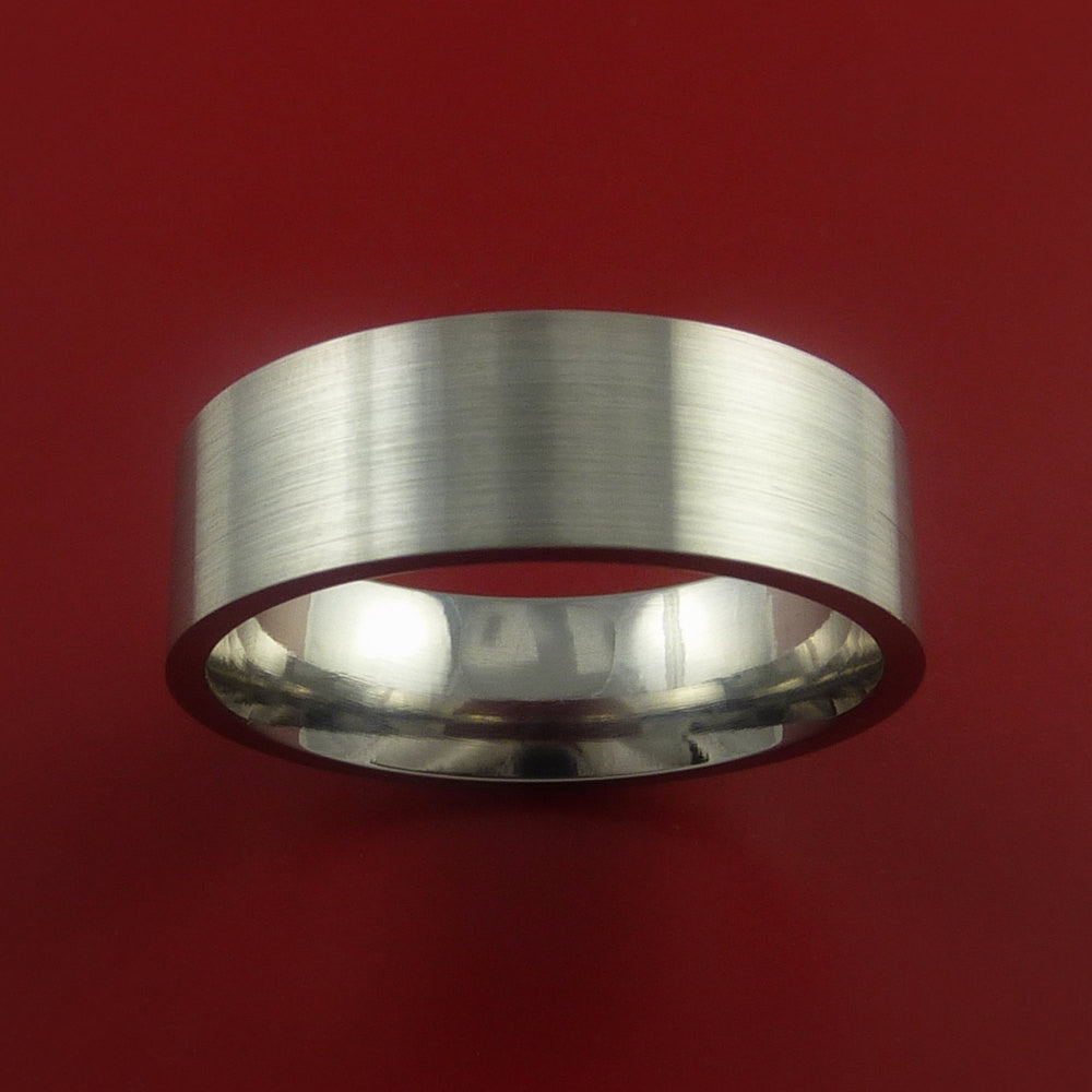 Titanium Wedding Band Classic Engagement Ring Made to Any Sizing and Finish 3-22 by Stonebrook Jewelry