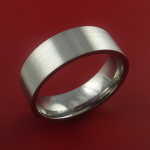 Titanium Wedding Band Classic Engagement Ring Made to Any Sizing and Finish 3-22