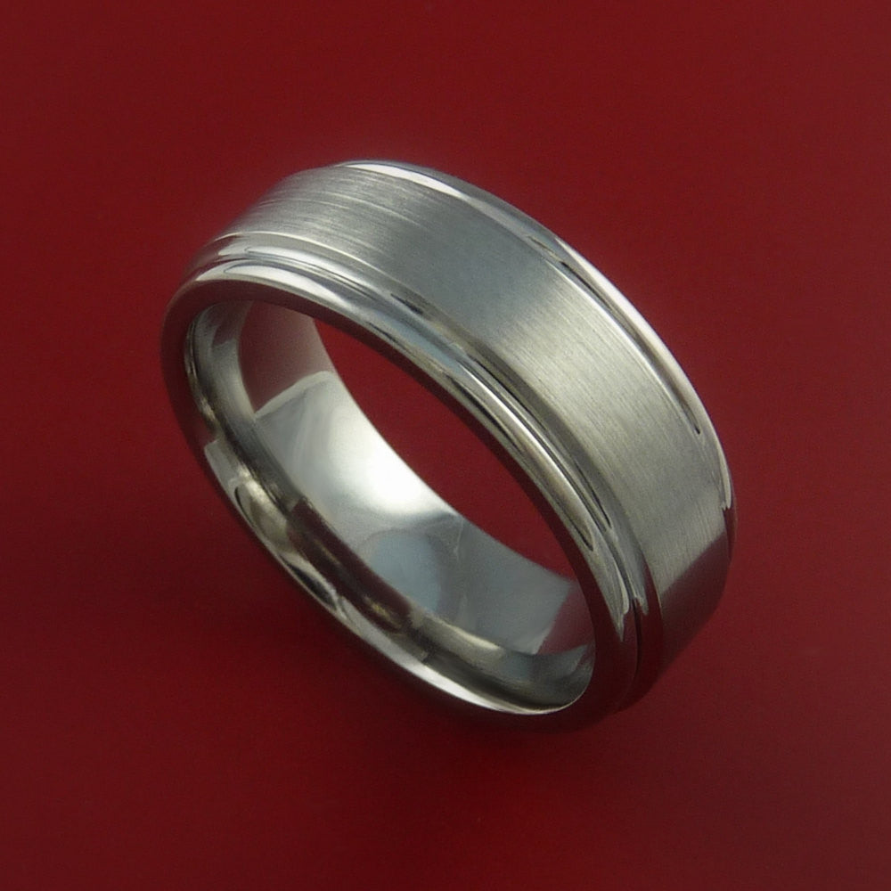 Titanium Wedding Band Engagement Ring CLASSIC Made to Any Sizing and Finish 3-22 by Stonebrook Jewelry