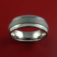 Titanium Wedding Band Engagement Ring Made to Any Sizing and Finish 3-22 - Stonebrook Jewelry  - 2