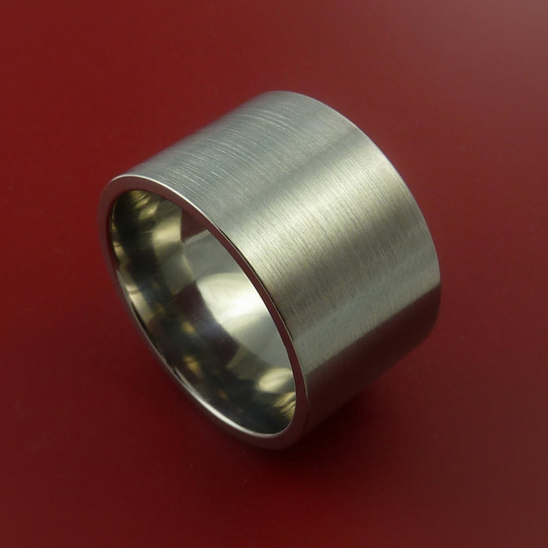 Titanium Wide Wedding Band Engagement Ring Made to Any Sizing and Finish 3-22