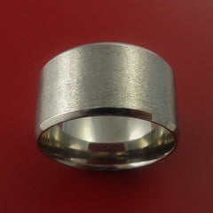 Titanium Wide Wedding Band Engagement Rings Made to Any Sizing 3-22 - Stonebrook Jewelry  - 4