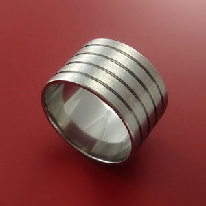 Titanium Band Engagement Ring Modern Made to Any Sizing and Finish 3-22