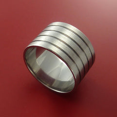 Titanium Band Engagement Ring Modern Made to Any Sizing and Finish 3-22 - Stonebrook Jewelry  - 1