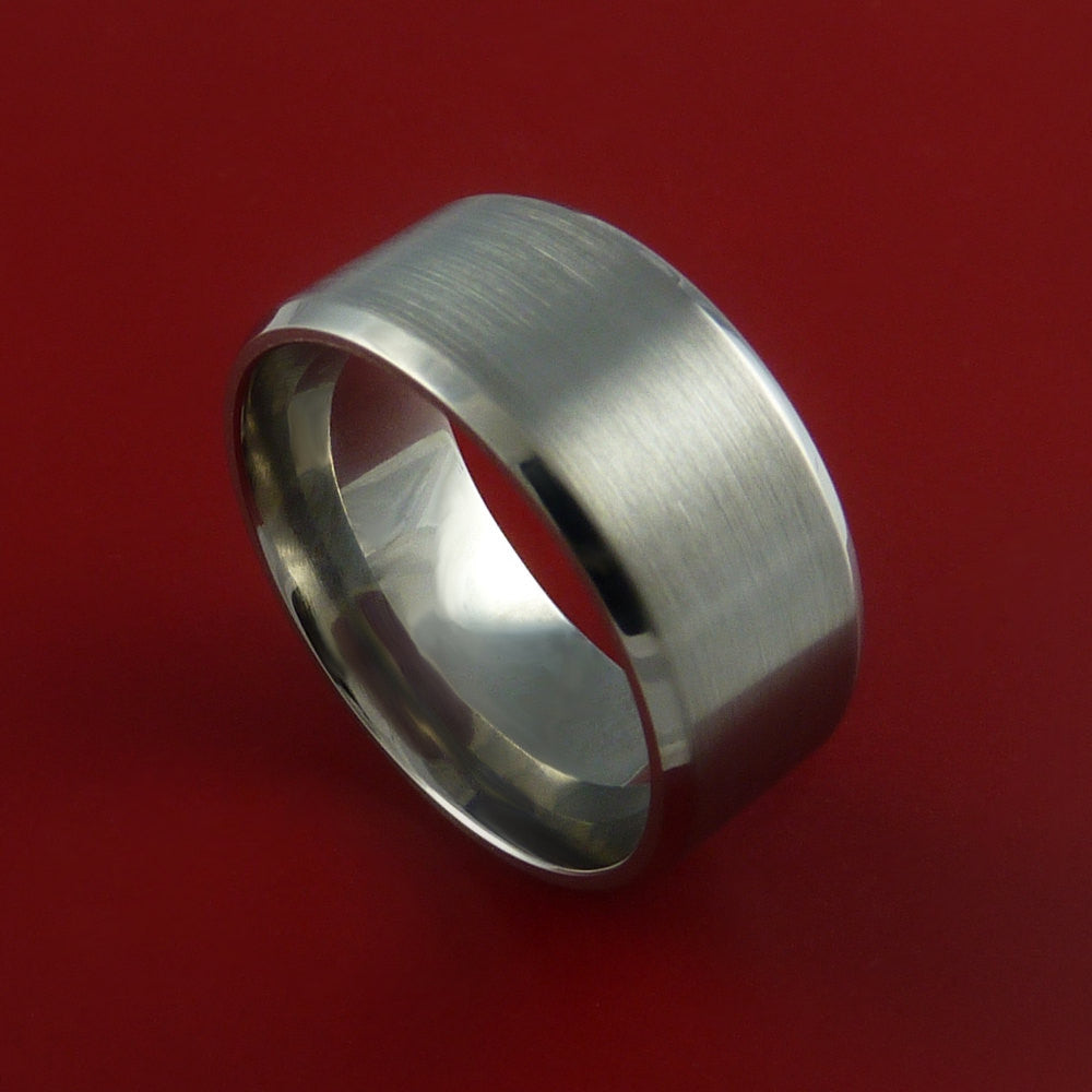 Titanium Wide Wedding Band Engagement Ring Made to Any Sizing 3 to 22 by Stonebrook Jewelry