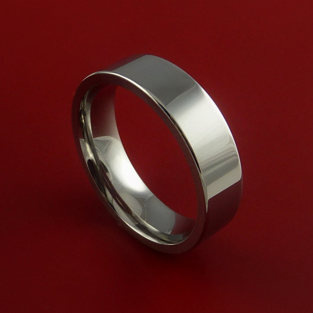 Titanium Wedding Band Engagement Rings Traditional Made to Any Sizing and Finish 3-22 - Stonebrook Jewelry  - 1