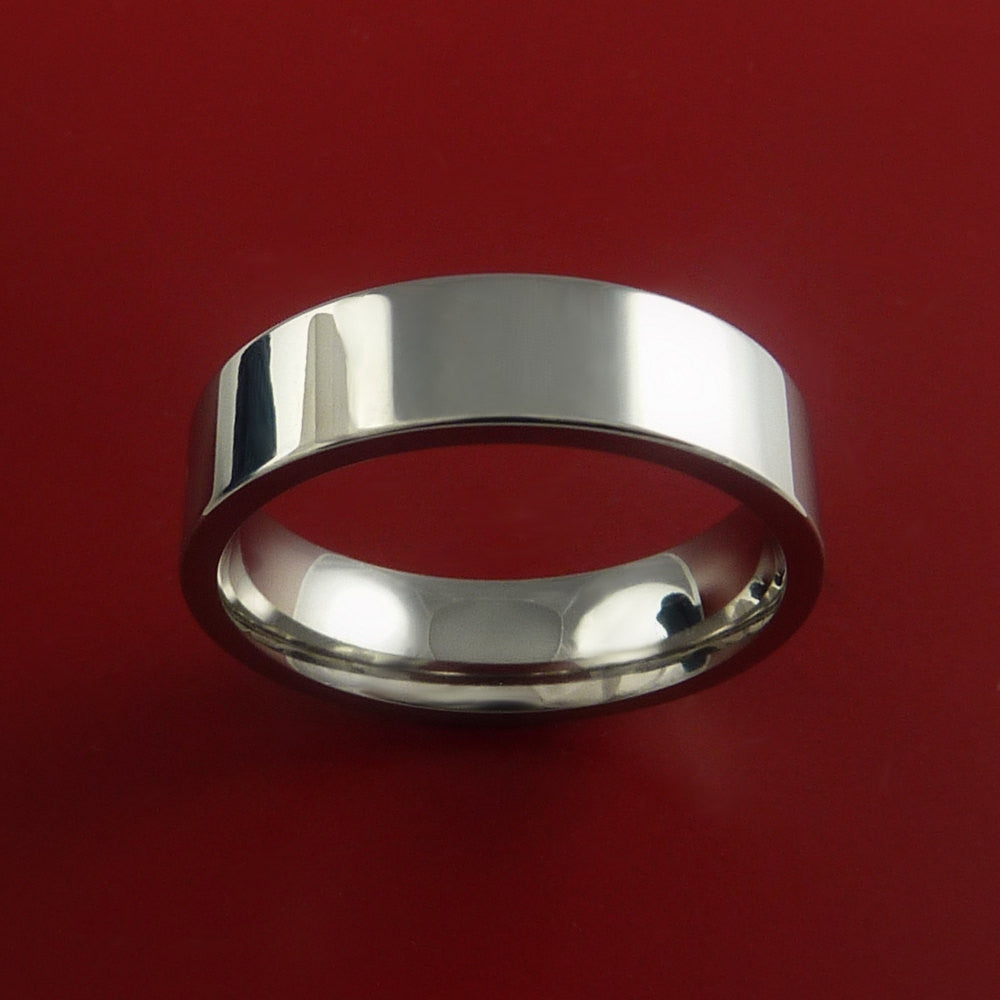 Titanium Wedding Band Engagement Rings Traditional Made to Any Sizing and Finish 3-22 - Stonebrook Jewelry  - 2