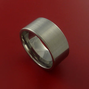 Titanium Classic Wedding Band Engagement Ring Made to Any Sizing and Finish 3-22