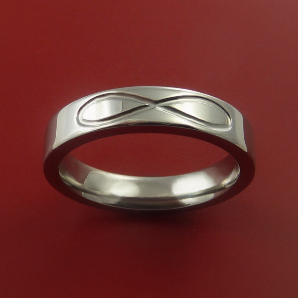 Titanium INFINITY Band Wedding Ring Custom Made Size 3 to 22 by Stonebrook Jewelry