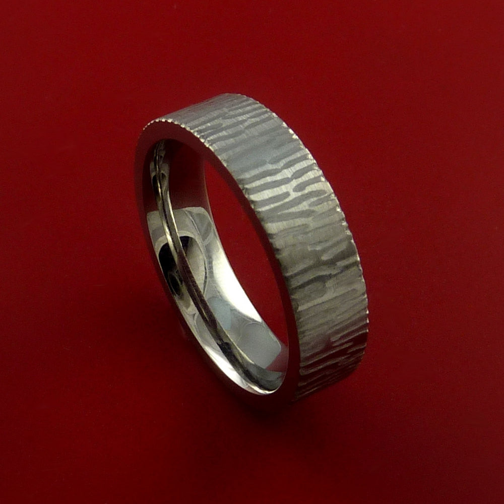 Titanium Ring Tiger Textured Band Made to Any Sizing and Finish 3-22 by Stonebrook Jewelry