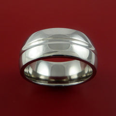 Titanium Wide Wedding Band Engagement Rings Made to Any Sizing 3-22 by Stonebrook Jewelry
