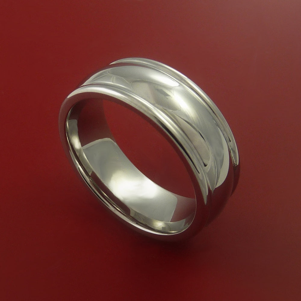 Titanium Classic Style Wedding Band Engagement Rings Made to Any Sizing 3-22 by Stonebrook Jewelry