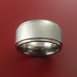 Titanium Modern Wedding Band Engagement Rings Made to Any Sizing 3-22