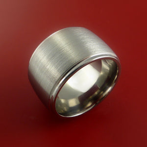 Titanium Wide Band Engagement Ring CLASSIC Made to Any Sizing and Finish 3-22