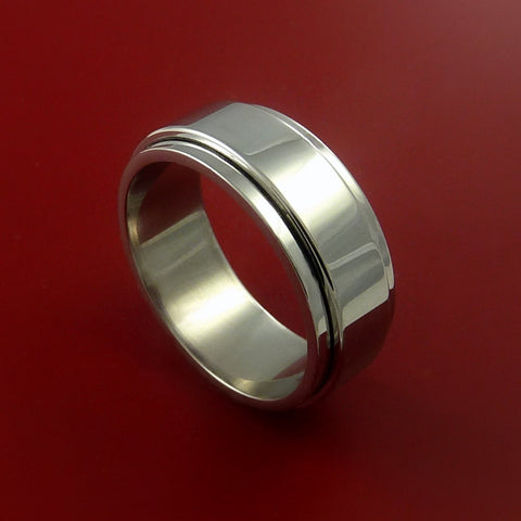 Titanium SPINNER Band CLASSIC Style Custom Made to Any Sizing and Finish 3-22