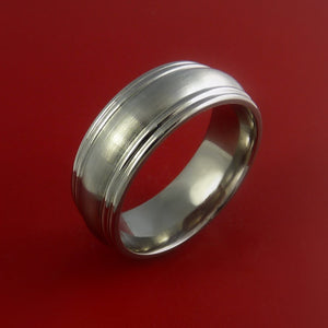Titanium Wedding Band Engagement Ring CLASSIC Made Any Sizing and Finish 3-22