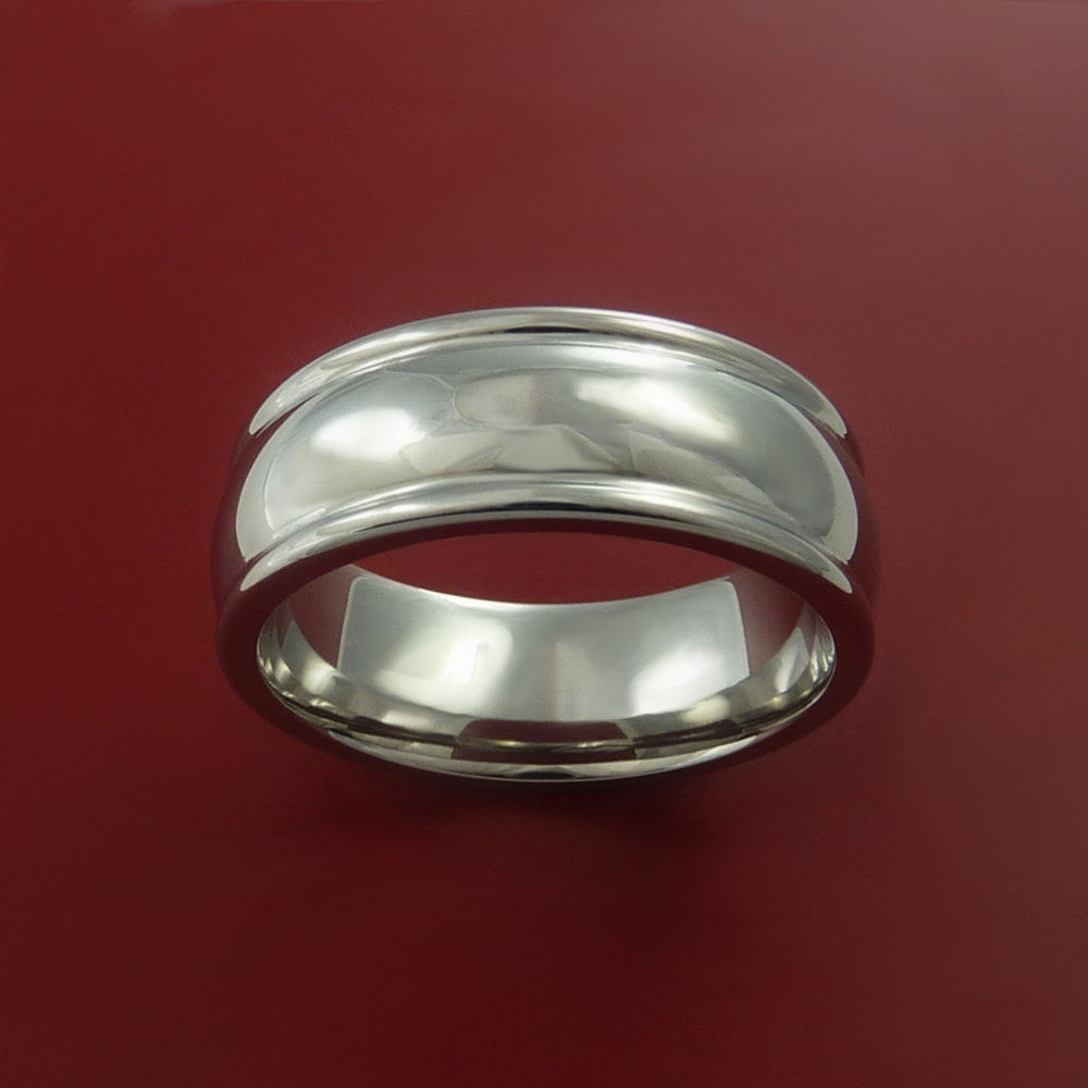 Cobalt Chrome Wedding Band Engagement Ring Made to Any Sizing and Finish 3-22 by Stonebrook Jewelry