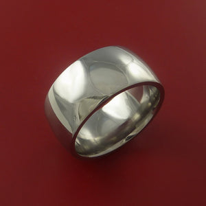 Titanium Wide Wedding Band Engagement Rings Made to Any Sizing 3 to 22