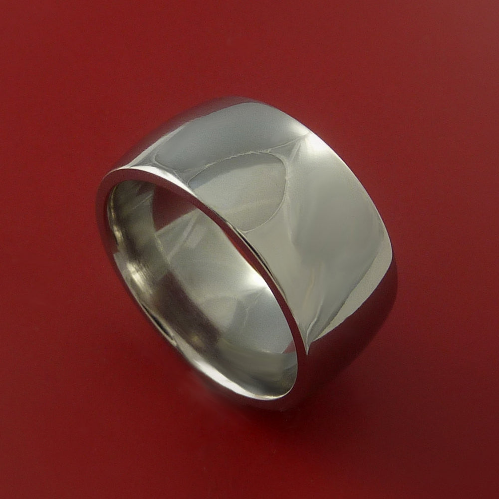 Titanium Wide Wedding Band Engagement Rings Made to Any Sizing 3 to 22 by Stonebrook Jewelry