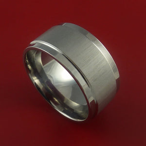 Titanium Wide Wedding Band Engagement Ring Made to Any Sizing 3-22