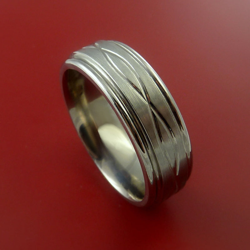 Titanium Celtic Band Infinity Symbolic Wedding Ring Custom Made
