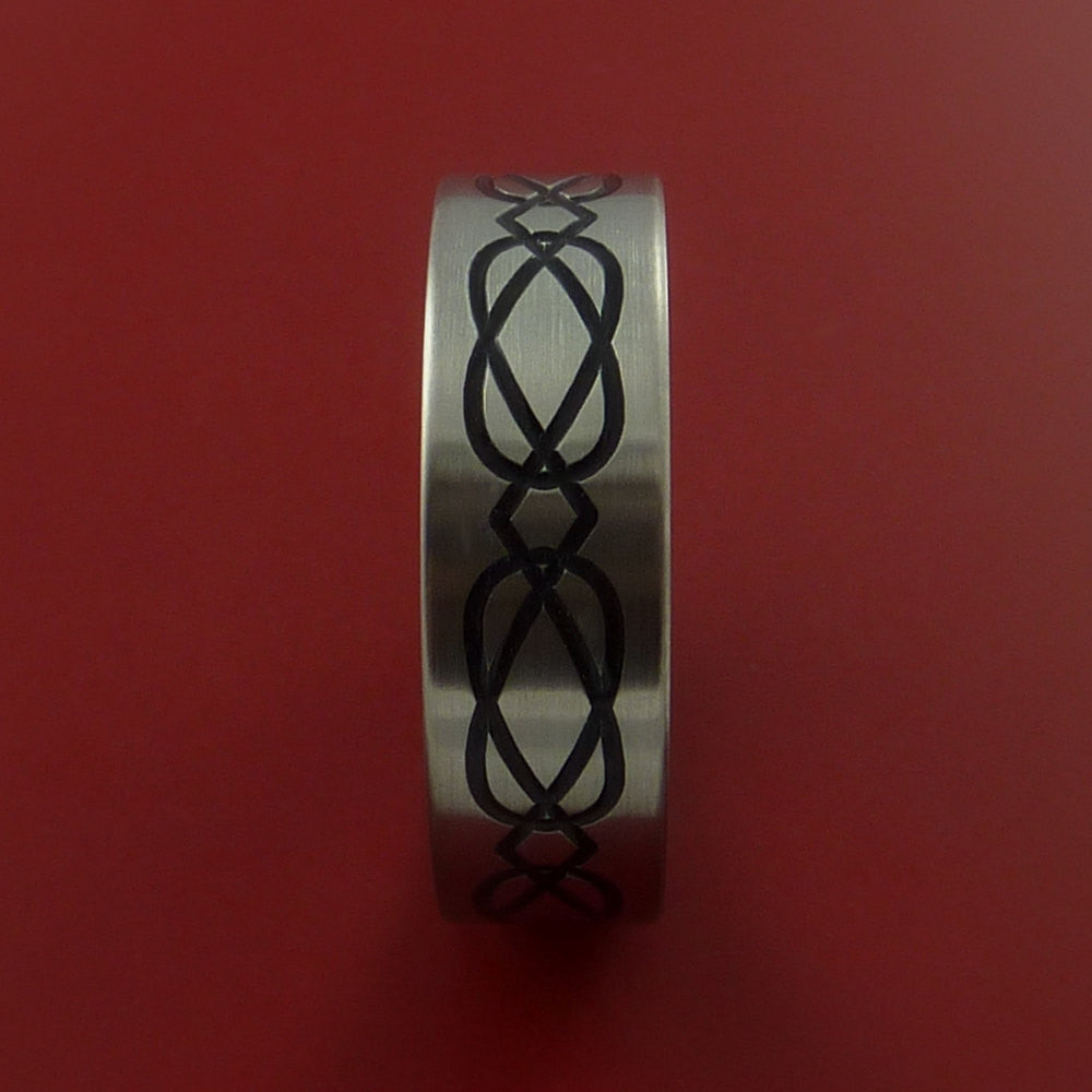 Titanium Celtic Band Infinity Design Ring Any Size 3 to 22 Any Color - Stonebrook Jewelry  - 3