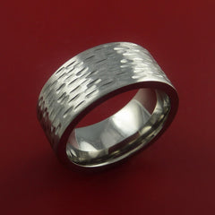 Titanium Wide Ring Textured Band Made to Any Sizing and Finish 3-22 - Stonebrook Jewelry  - 2