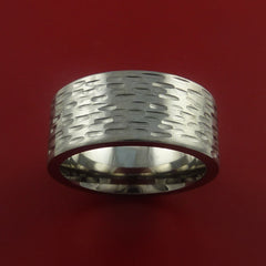 Titanium Wide Ring Textured Band Made to Any Sizing and Finish 3-22 - Stonebrook Jewelry  - 3