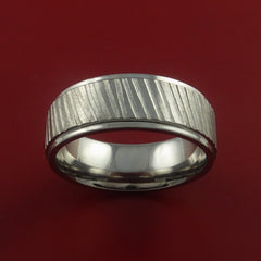 Titanium Rifling Carved Band Custom Ring Made to Any Sizing and Finish 3-22 - Stonebrook Jewelry  - 3