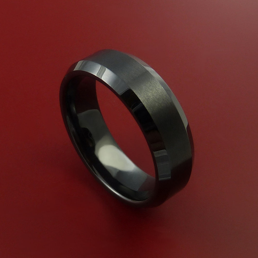 Black Ceramic Ring Durable Custom Made Ring by Stonebrook Jewelry