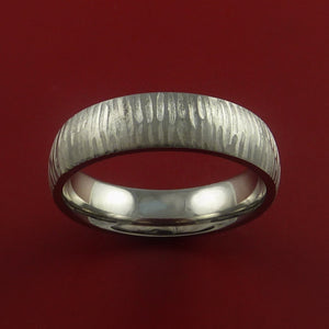 Titanium Ring Tiger Textured Band Custom Made to Any Sizing and Finish 3-22