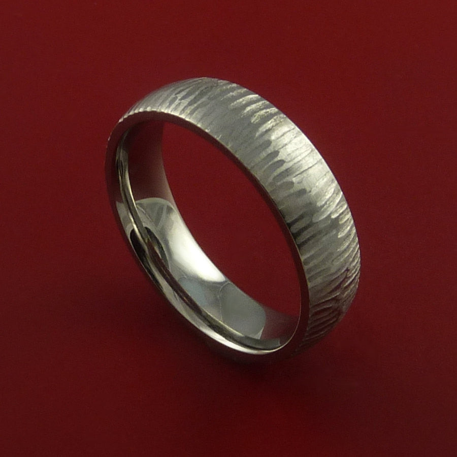 Titanium Ring Tiger Textured Band Custom Made to Any Sizing and Finish 3-22 by Stonebrook Jewelry