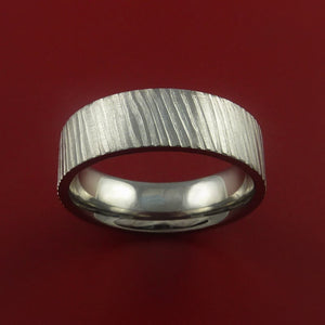 Titanium Rifling Carved Band Custom Rings Made to Any Sizing and Finish 3-22