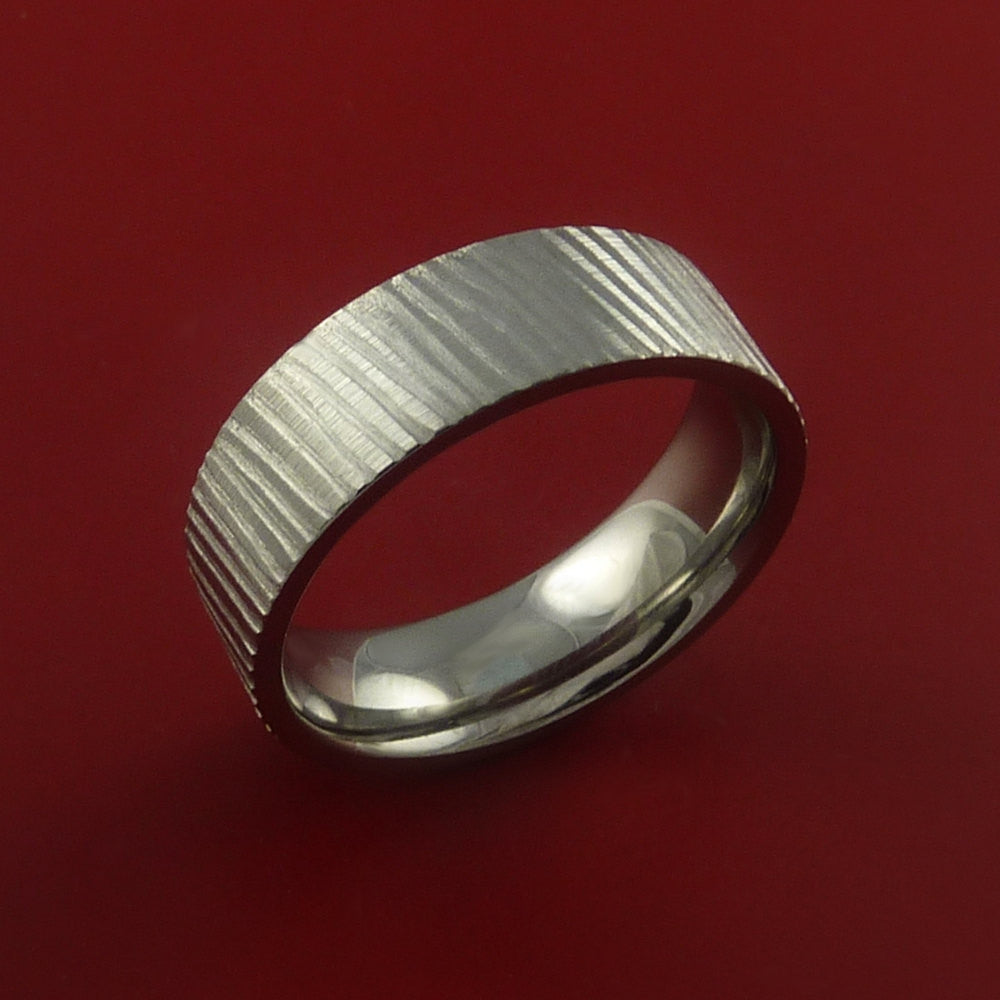 Titanium Rifling Carved Band Custom Rings Made to Any Sizing and Finish 3-22 - Stonebrook Jewelry  - 2